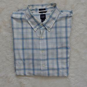 👔2/$20 GAP short-sleeved dress shirt blue XXL